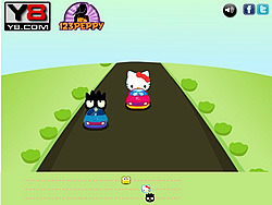 Hello Kitty Car Race